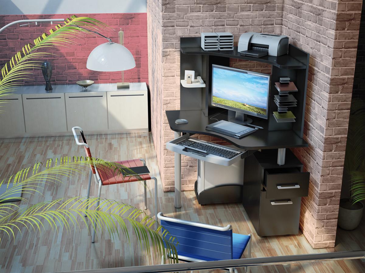 """Модульные компьютерные столы """"техно""""(900х900) готовые композ."""