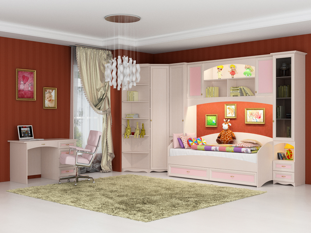 Детская модульная мебель в интерьере.